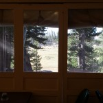 looking outside from Sunrise campstore